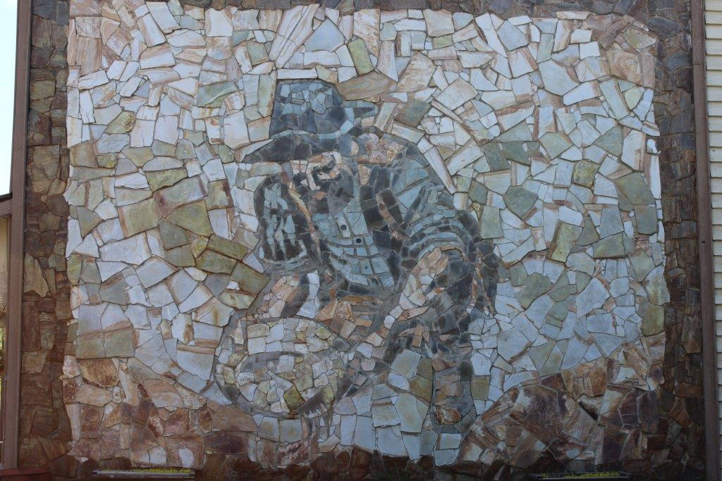 Gold Panning Stone Mural